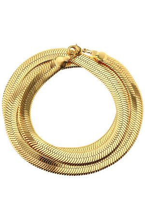 Newchic Snake Bone Gold Necklace for Men