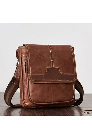 Newchic Vintage Genuine Leather Casual Business Crossbody Bag