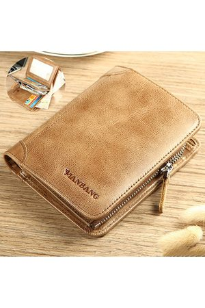 Newchic Vintage Genuine Leather Short Wallet For Men