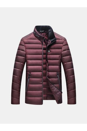 Newchic Men Winter Jackets - Solid Color Puffer Jacket
