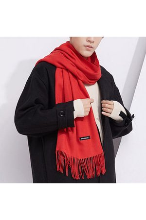 Newchic Men Scarves - Vintage Warm Cashmere Blend Scarf With Tassel