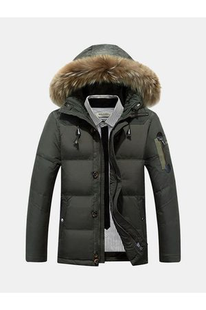 Newchic Men Winter Jackets - Winter Hooded Jacket for Men