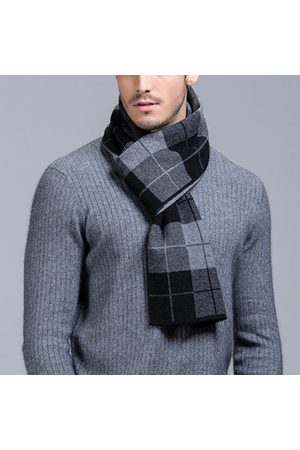 Newchic Men Scarves - Men Business Pure Wool Thick Warm Scarf