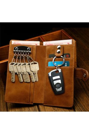 Newchic Men Multifunction Car Key Holder Card Holder Wallet