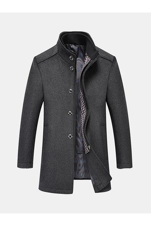 Newchic Mens Fashion Woolen Trench Coat Two Piece Set