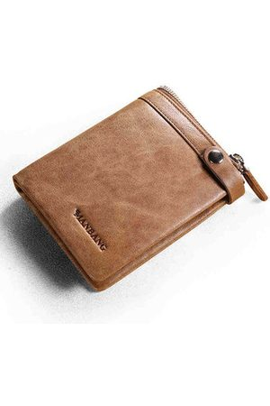 Newchic Genuine Leather Short Business Wallet For Men