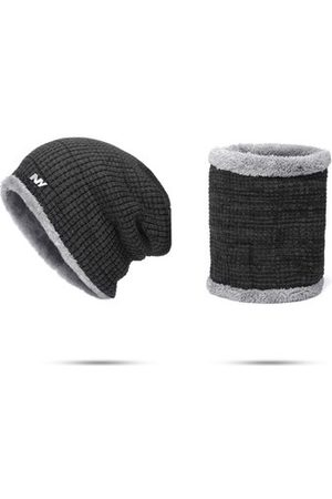 Newchic Mens Warm Knitted Beanie Hat Scarf Sets