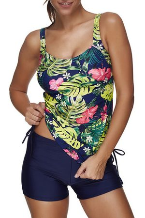 Newchic Breathable Printed Stretchy Soft Tankinis