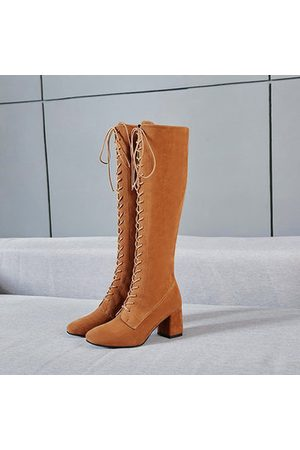 Newchic Large Size Knee High Block Boots