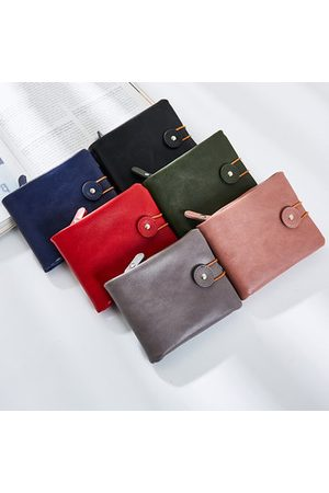 Newchic Vintage Short Wallet Pure Color Card Holders Purse For Women
