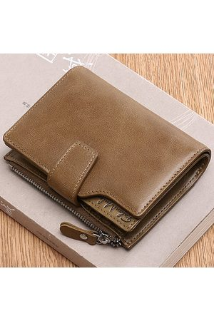 Newchic Vintage Genuine Leather Short Casual 10 Card Slots Wallet