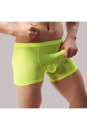 Newchic Sexy Underwear Translucent Breathable Elephant Shaped U Convex Stripes Boxers for Men