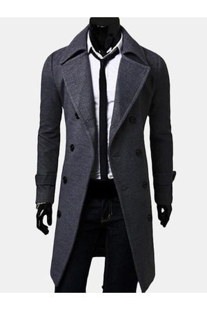 Newchic Slim Fit Wool Trench Coat