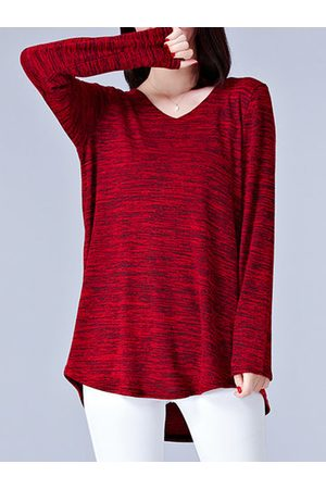 Newchic Vintage Loose Long Sleeves V-neck Shirts