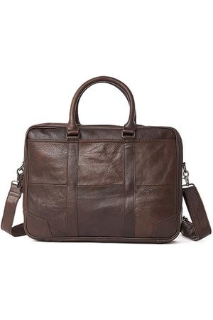 Newchic Genuine Leather Business Laptop Bag Briefcase Crossbody Bag