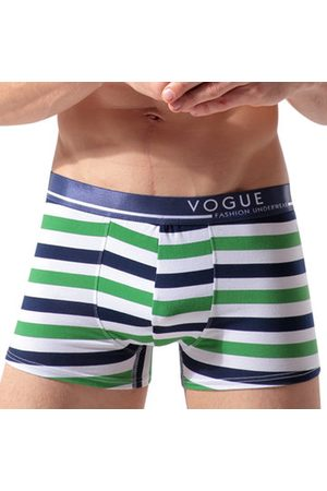 Newchic Men Briefs - Navy Style Stripes Printing Cotton Breathable Boxer Briefs for Men