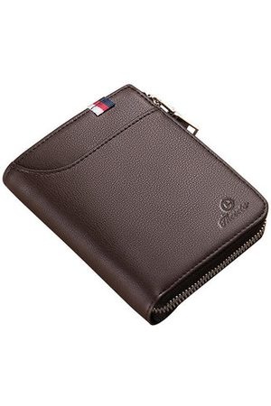 Newchic Genuine Leather Short Driver License Wallet For Men
