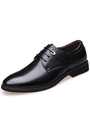 Newchic Men Lace Up Leather Dress Shoes