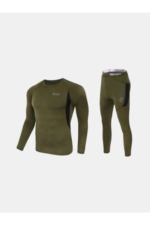 Newchic Mens Outdoor Tactical Sports Thermal Underwear Elastic Suit