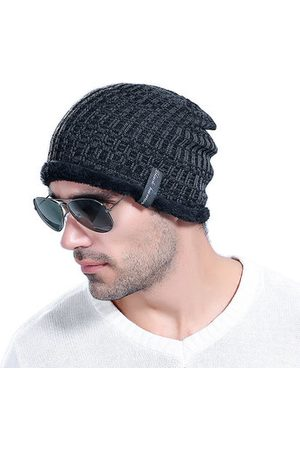 Newchic Men Winter Thick Bonnet Knitted Caps