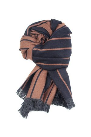 Newchic Solid Cashmere Stripe Scarves Shawl