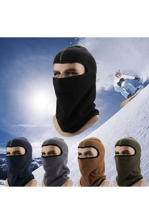 Newchic Thick Solid Fleece Beanie Cap Facel Mask Hat