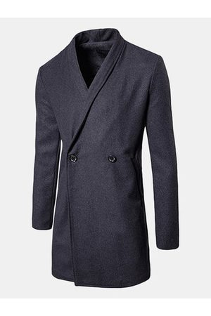 Newchic Men Trench Coats - Mid-long Casual Business Trench Coat