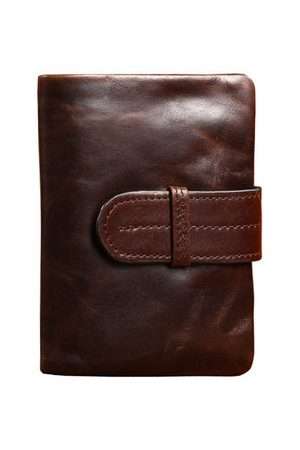 Newchic Men PU Leather Casual Vintage Short Wallet