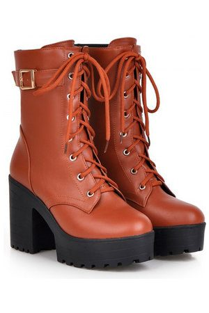 Newchic Lace Up Ankle Boots For Women