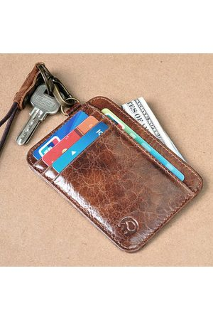 Newchic Vintage Genuine Leather Card Holder Wallet Purse