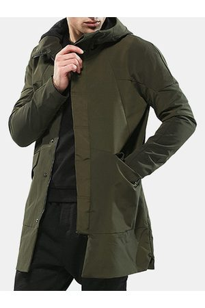 Newchic Mens Hooded Trench Coat