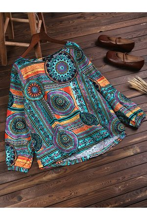Newchic Loose Colorful Printed Shirts