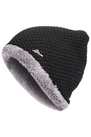 Newchic Slouch Solid Black Beanie Hat