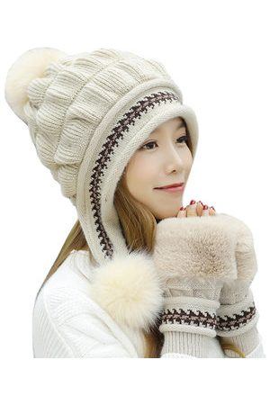 Newchic Cotton Kintted Hats Gloves Set