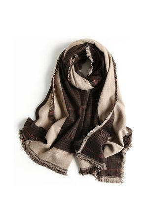 Newchic Generous Lattice Tassel Winter Warm Scarves