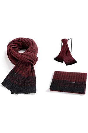 Newchic Men Scarves - Knitted Patchwork Thickening Warm Fashion Wrap Scarves Shawl