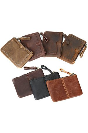 Newchic Men Wallets - Genuine Leather Mini Coin Bag Card Holder Purse Wallet Purse