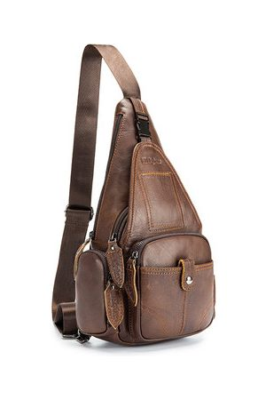 Newchic Ekphero Vintage Genuine Leather Business Casual Crossbody Ba