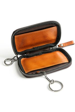 Newchic Genuine Leather Card Holder Coin Bag Key Bag Car Key Case