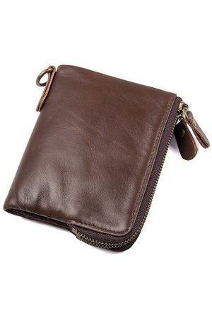 Newchic RFID Antimagnetic Genuine Leather Zipper Pocket Wallet