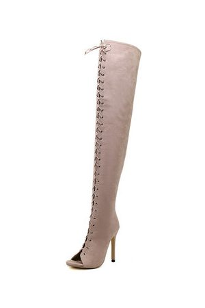 Newchic Women Knee High Boots - Strappy Over The Knee Gladiator