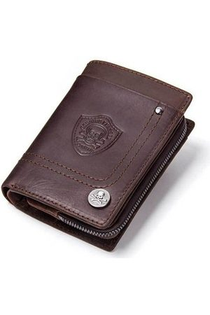 Newchic Vintage Genuine Leather Removable Coin Bag Wallet For Men