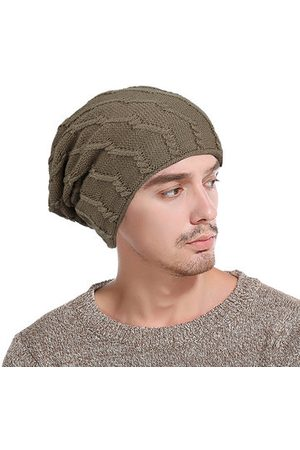 Newchic Stripe Thick Wool Baggy Slouchy Beanie Skull Hats