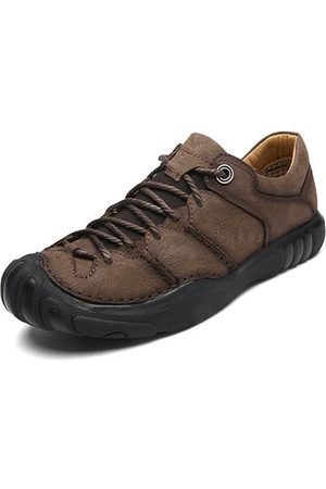 Newchic Men Cow Leather Anti-collision Outdoor Casual Shoes