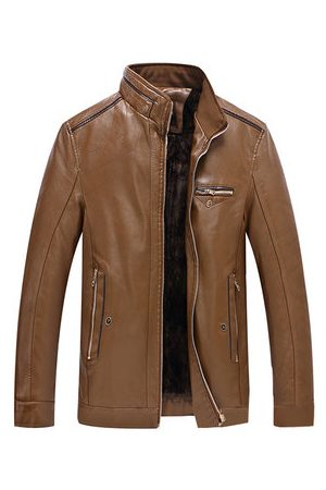 Newchic Thick Fleece Leather Jacket