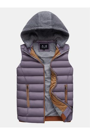 Newchic Detachable Hooded Outdoor Thicken Warm Vest