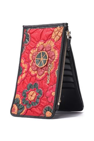 Newchic Brenice Vintage 18 Card-slots Casual Floral Wallet For Women