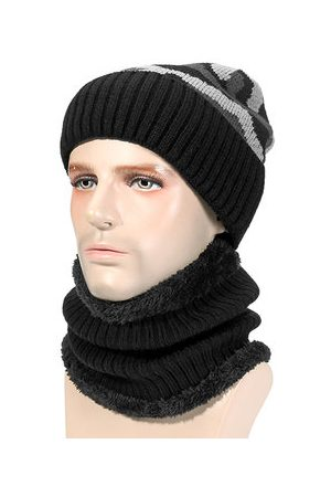 Newchic Men Beanies - Knitted Slouch Beanie Hat Scarf Set