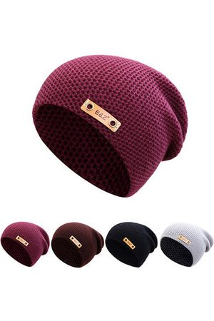 Newchic Men Beanies - Winter Solid Color Thicker Plus Plush Beanie Hats