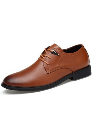 Newchic Men Casual Shoes - LANMARH Men Cow Leather Slip Resistant Casual Business Shoes